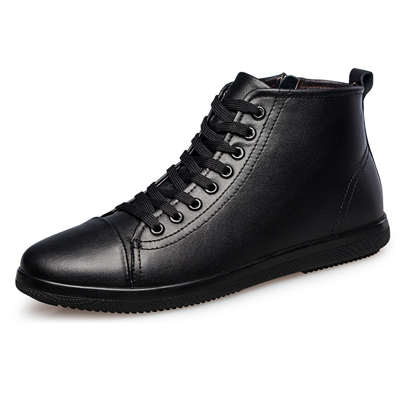 Men's Autumn-Winter Fur-lined Casual Leather Ankle Boots
