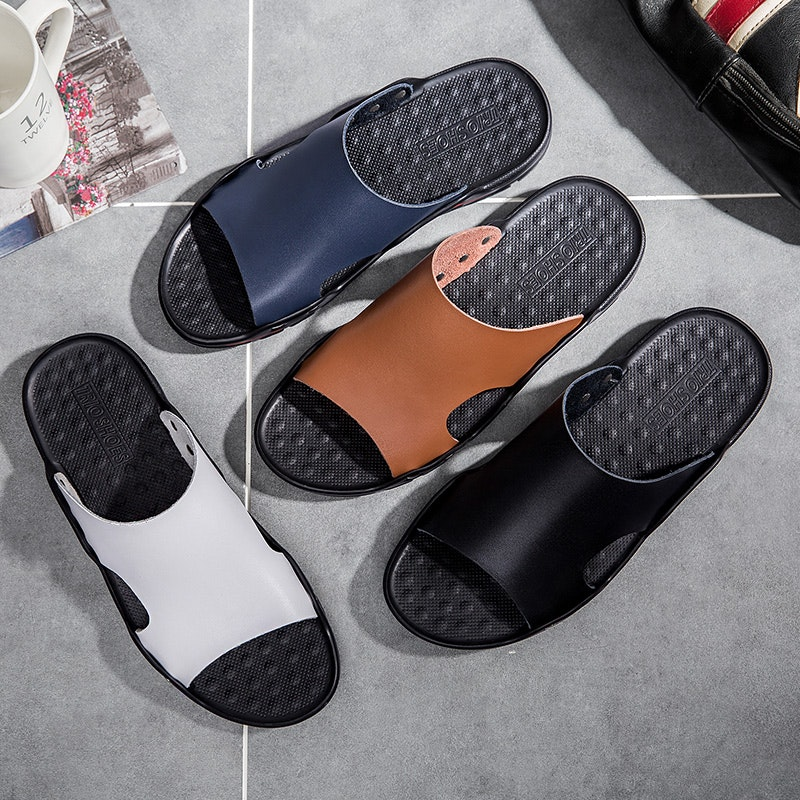Men Summer Soft Breathable SyntheticLeather Slipper