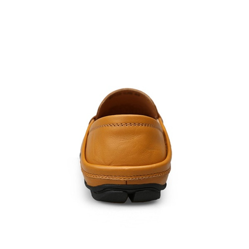 Men Leather Soft Sole Casual Driving Shoes