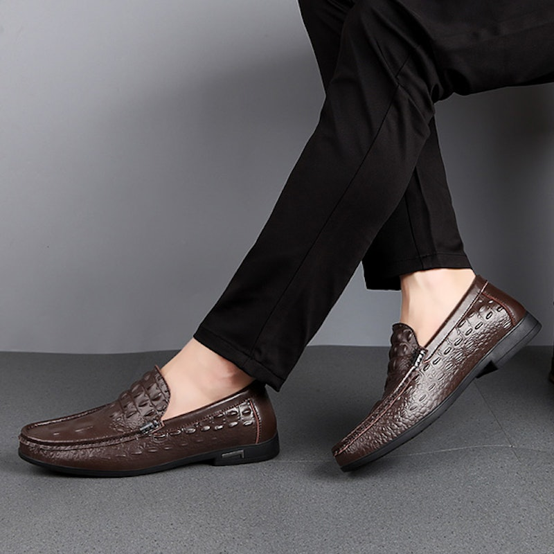 Men's Four Seasons Breathable Leather Driving Loafers
