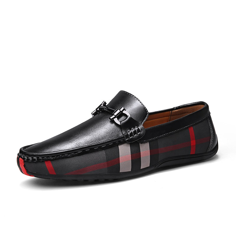 Men's Four Seasons Slip on Lightweight Leather Horsebit Loafer
