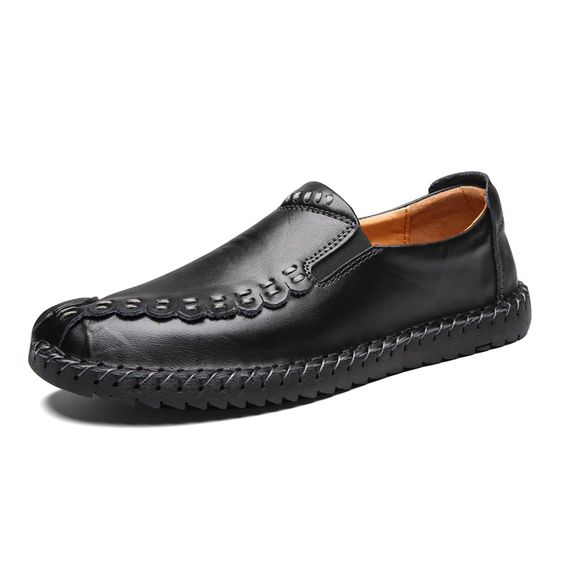 Men's Four Seasons Hand Stitching Leather Driving Shoes