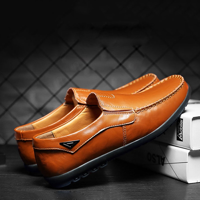 Men's Four Seasons Comfortable Casual Leather Flats