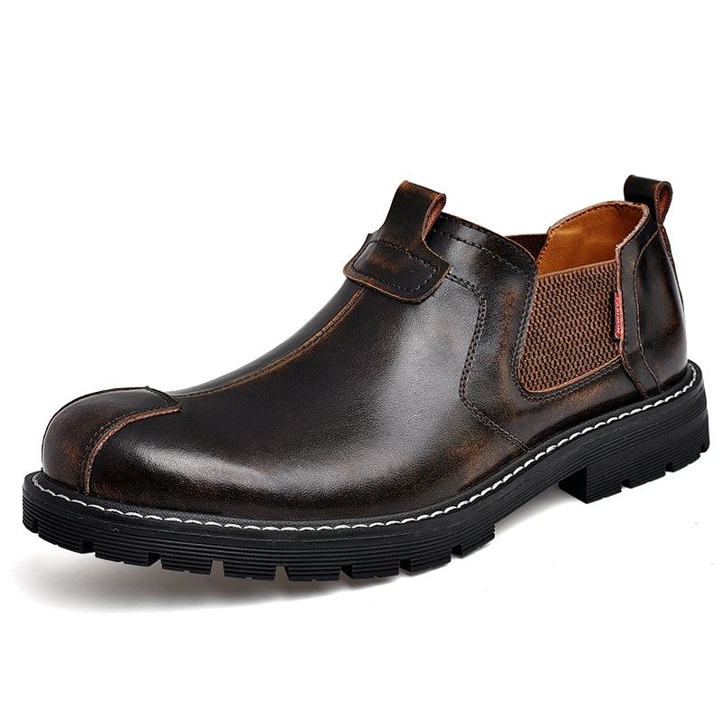 Men's Spring-Autumn-Winter British Style Vintage Leather Casual Shoes
