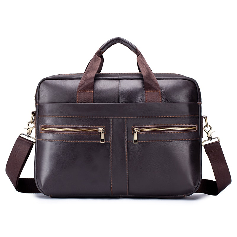Men's Business Large Capacity Leather Briefcase