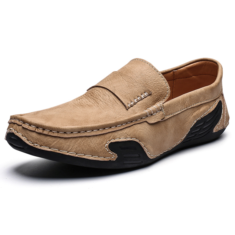 Men's Four Seasons Soft Comfortable Microfiber Leather Loafers