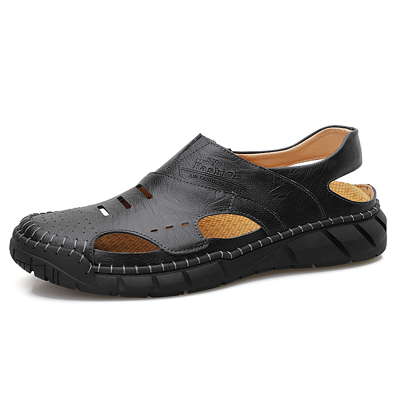 Men's Summer Classic Closed-toe Leather Sandals