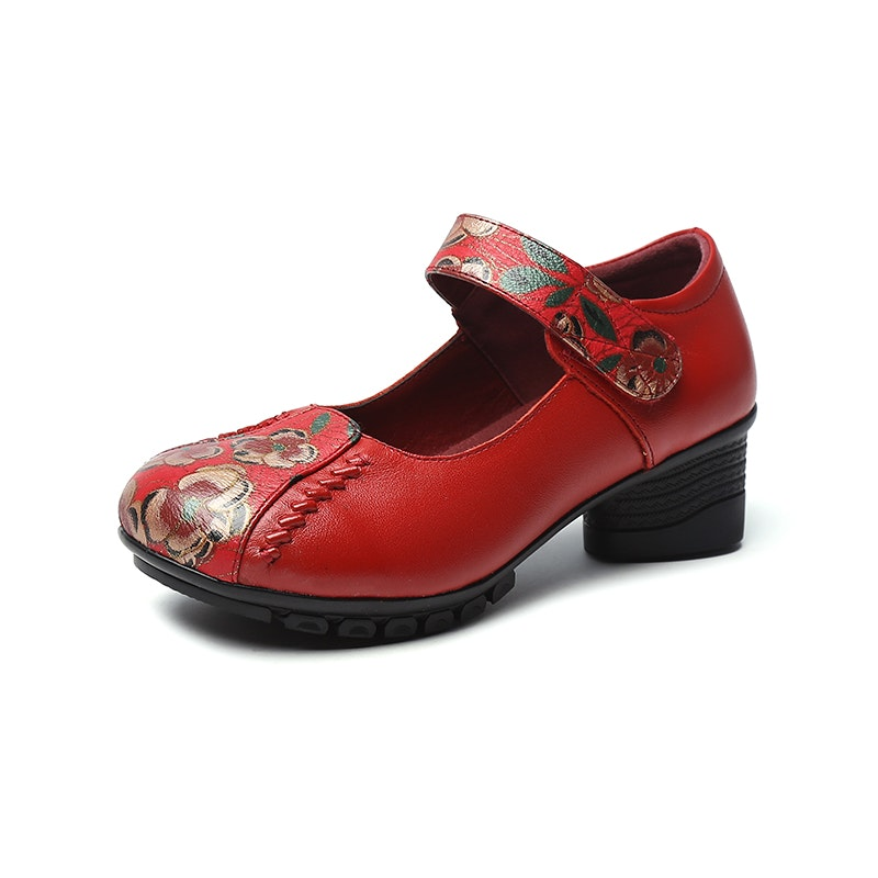 Women's Spring/Summer Spring Flowers Handmade Leather Shoes