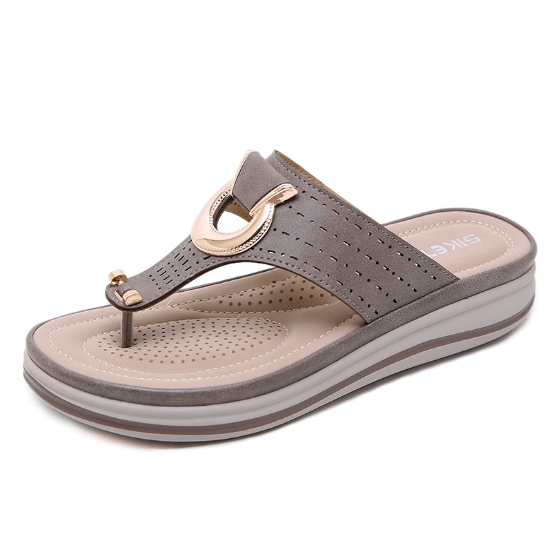 Women's Summer Beach Vacation Microfiber Leather Slippers