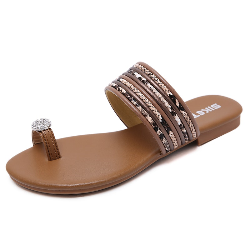 Women's Summer Comfy Flip Flops Microfiber Leather Slipper