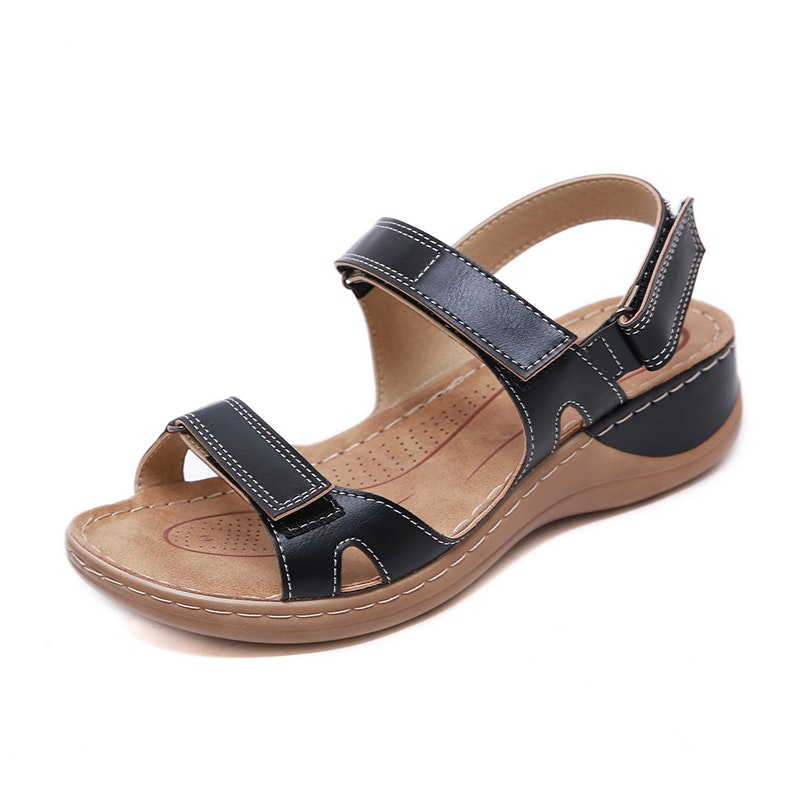 Women's Summer Holiday Comfy Microfiber Leather Sandals