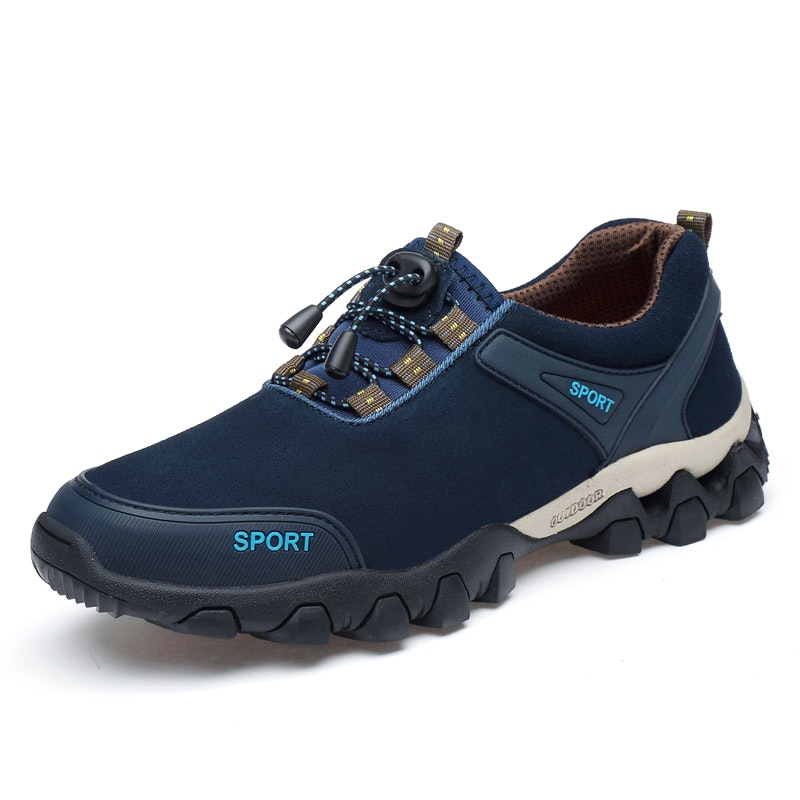 Men Four Seasons Lace-up Outdoor Microfiber Leather Sports Shoes